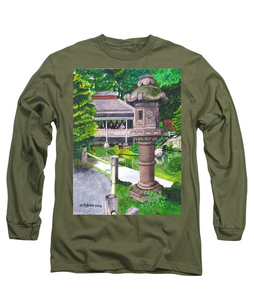 Stone Lantern Long Sleeve T-Shirt by Mike Robles