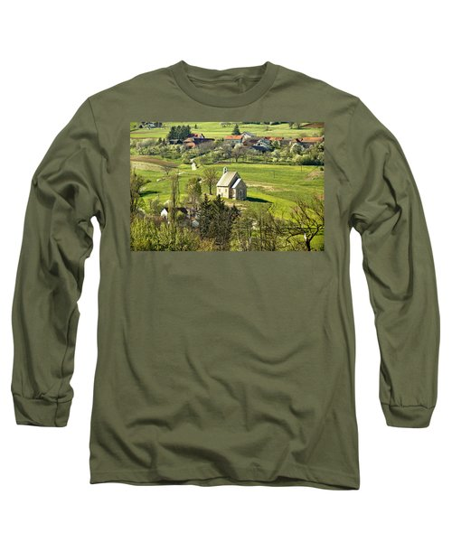 Stone Made Church In Green Nature Long Sleeve T-Shirt