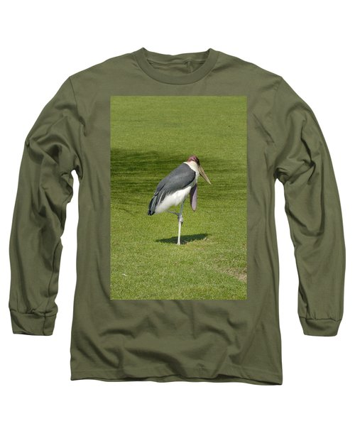 Long Sleeve T-Shirt featuring the photograph Stork by Charles Beeler