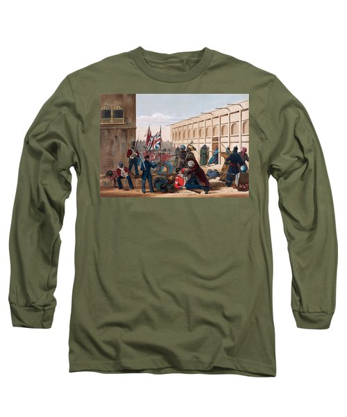 Storming Of Khelat, The Troops Entering Long Sleeve T-Shirt