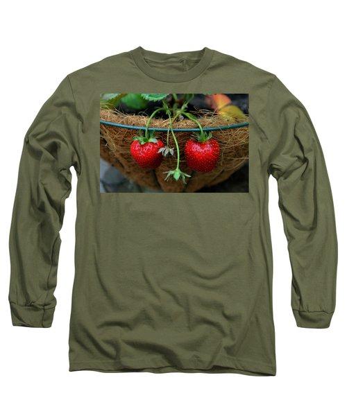 Strawberries Long Sleeve T-Shirt by Pamela Walton