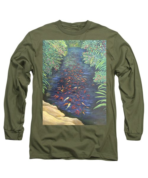 Stream Of Koi Long Sleeve T-Shirt