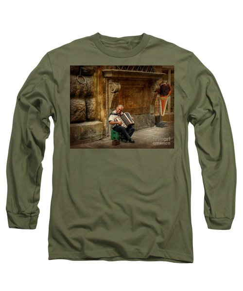Street  Music Long Sleeve T-Shirt by Valerie Reeves