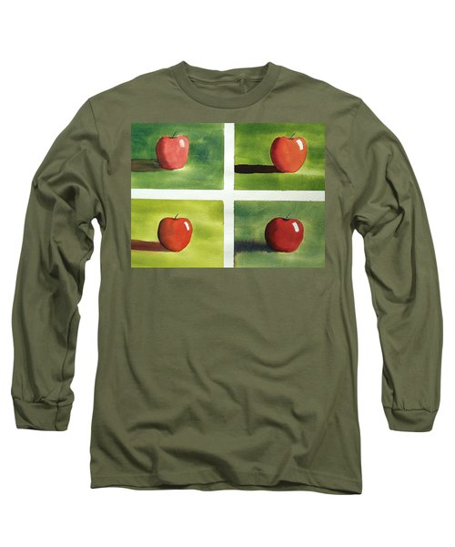 Study Red And Green Long Sleeve T-Shirt by Richard Faulkner