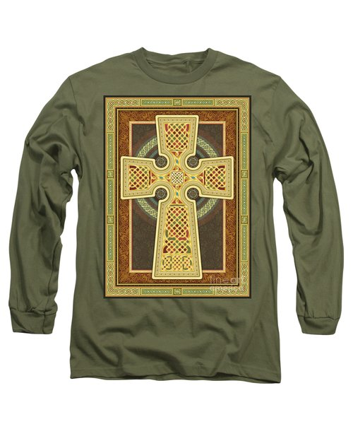 Stylized Celtic Cross Long Sleeve T-Shirt