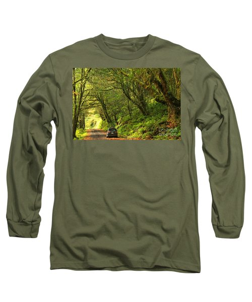 Subaru In The Rainforest Long Sleeve T-Shirt