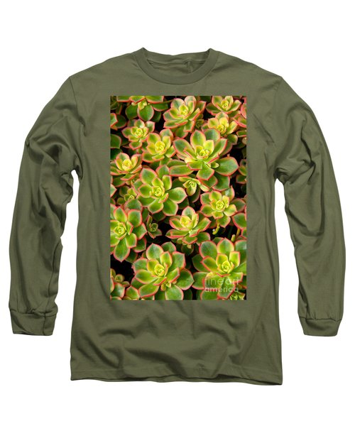 Succulent Glow Long Sleeve T-Shirt by Suzanne Oesterling