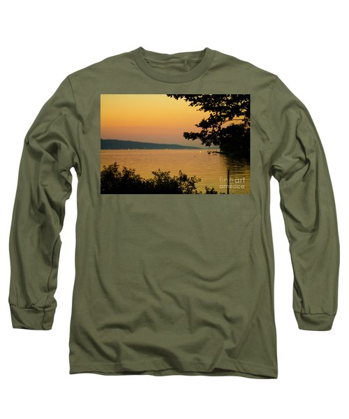 Summer Evening On Cayuga Lake Long Sleeve T-Shirt