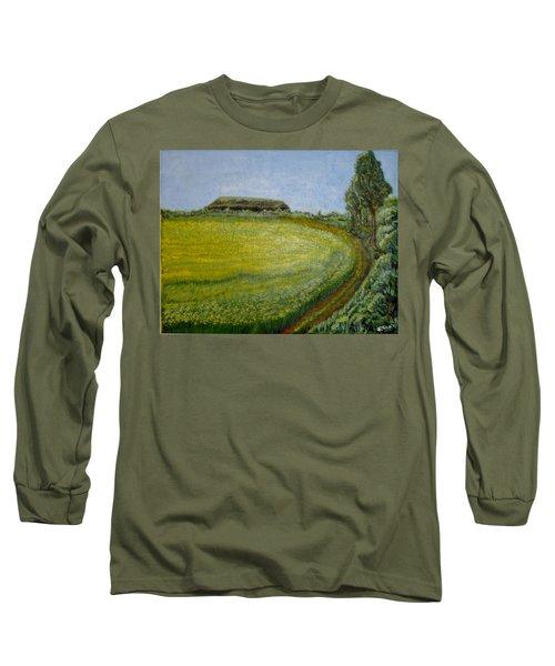 Summer In Canola Field Long Sleeve T-Shirt by Felicia Tica