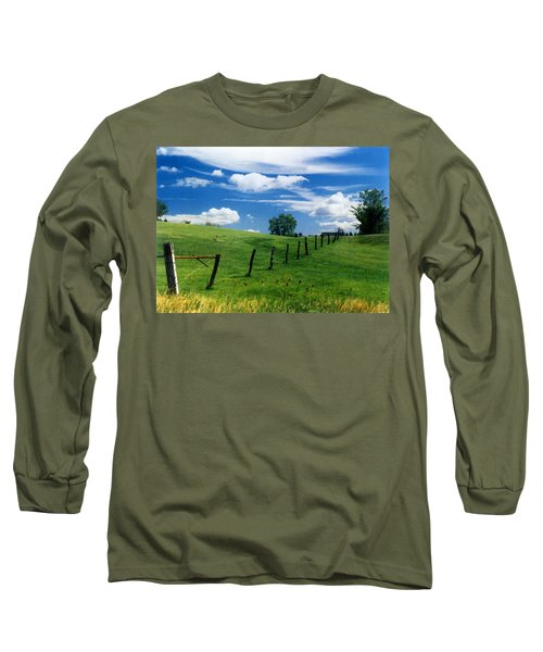Summer Landscape Long Sleeve T-Shirt by Steve Karol