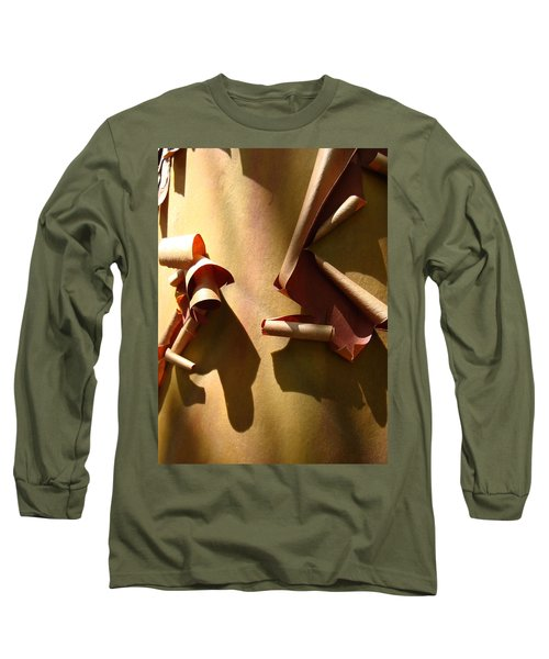 Summer Sun On Arbutus Long Sleeve T-Shirt by Cheryl Hoyle