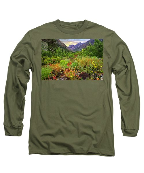 Summer Wildflowers In Lundy Canyon Long Sleeve T-Shirt