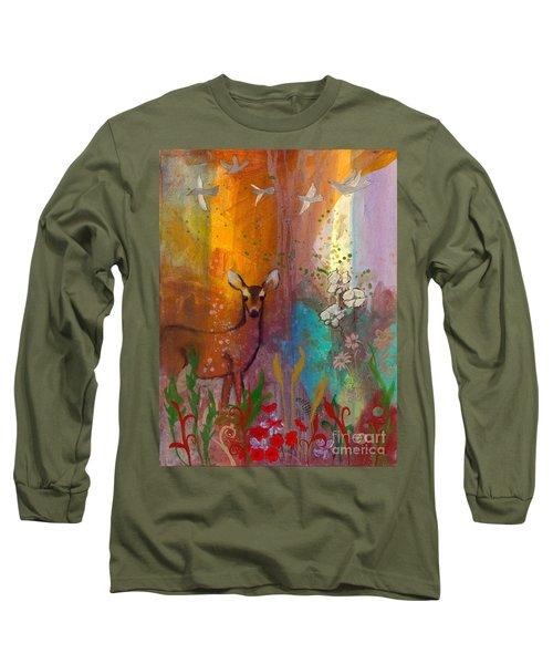 Sun Deer Long Sleeve T-Shirt by Robin Maria Pedrero