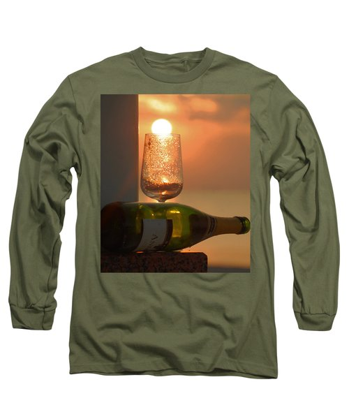 Long Sleeve T-Shirt featuring the photograph Sun In Glass by Leticia Latocki