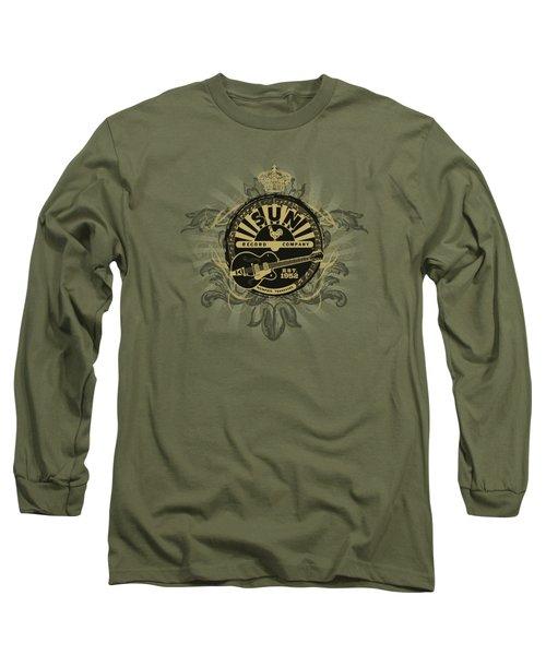 Sun - Rock Heraldry Long Sleeve T-Shirt by Brand A