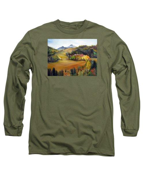 Sundance And Mt. Timpanogos Long Sleeve T-Shirt by LaVonne Hand