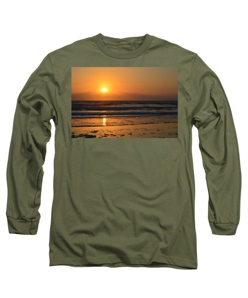 Long Sleeve T-Shirt featuring the photograph Sundays Golden Sunrise by DigiArt Diaries by Vicky B Fuller