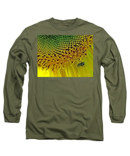 Sunflower And Beetle Long Sleeve T-Shirt