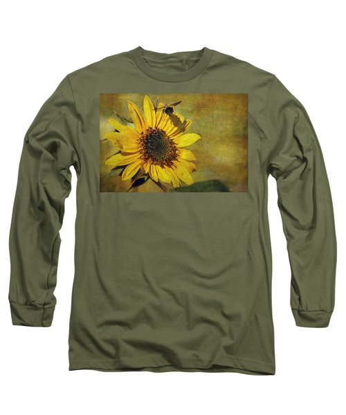 Sunflower And Bumble Bee Long Sleeve T-Shirt