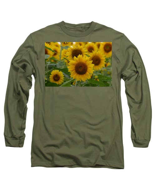 Sunflowers At The Farm Long Sleeve T-Shirt
