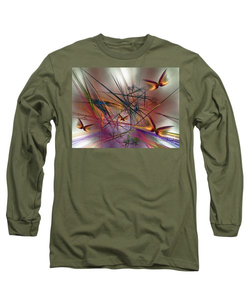 Sunny Day-abstract Art Long Sleeve T-Shirt