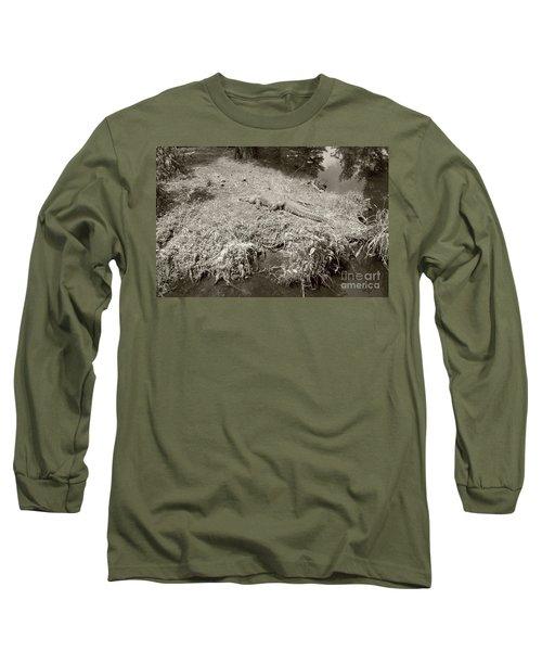 Sunny Gator Sepia  Long Sleeve T-Shirt