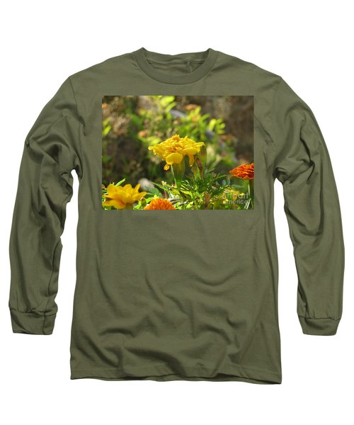 Sunny Marigold Long Sleeve T-Shirt by Leone Lund