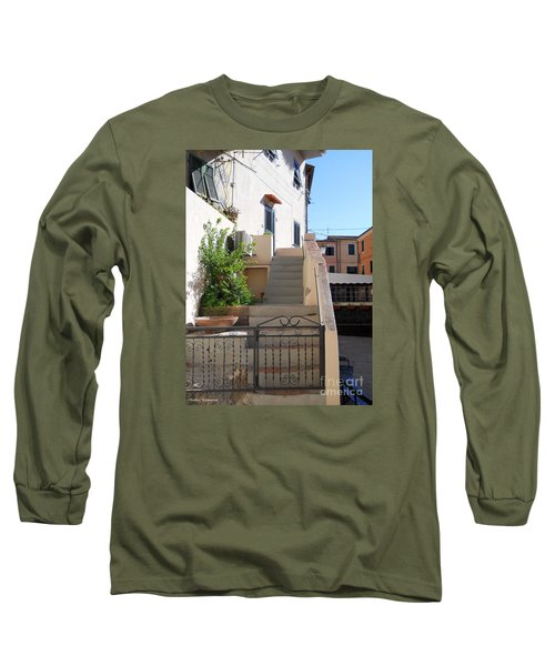 Long Sleeve T-Shirt featuring the photograph Sunny Tuscany Village by Ramona Matei