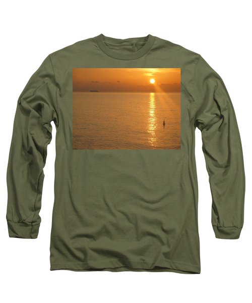 Sunrise At Sea Long Sleeve T-Shirt by Photographic Arts And Design Studio