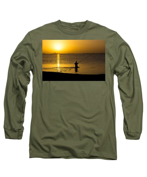 Sunrise Fishing Long Sleeve T-Shirt by Scott Carruthers