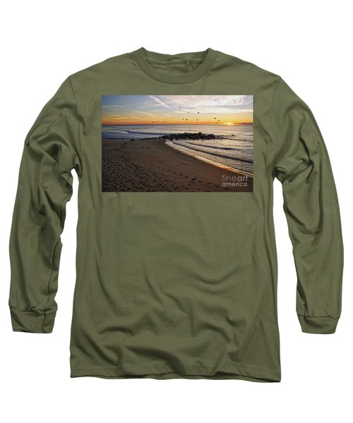 Long Sleeve T-Shirt featuring the photograph Sunrise In Ocean Grove by Debra Fedchin