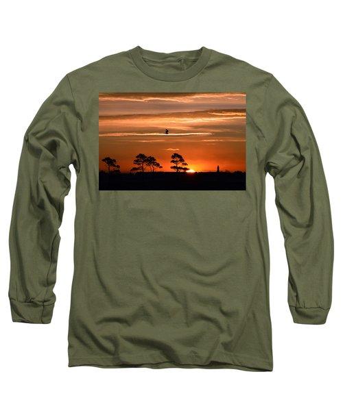 Sunrise Over Fenwick Island Long Sleeve T-Shirt