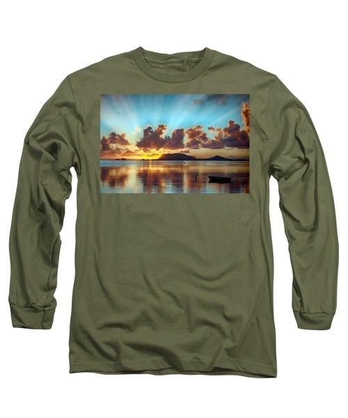 Sunrise Over Marine Corps Base Hawaii Long Sleeve T-Shirt