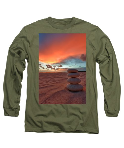 Long Sleeve T-Shirt featuring the photograph Sunrise Zen by Sebastian Musial