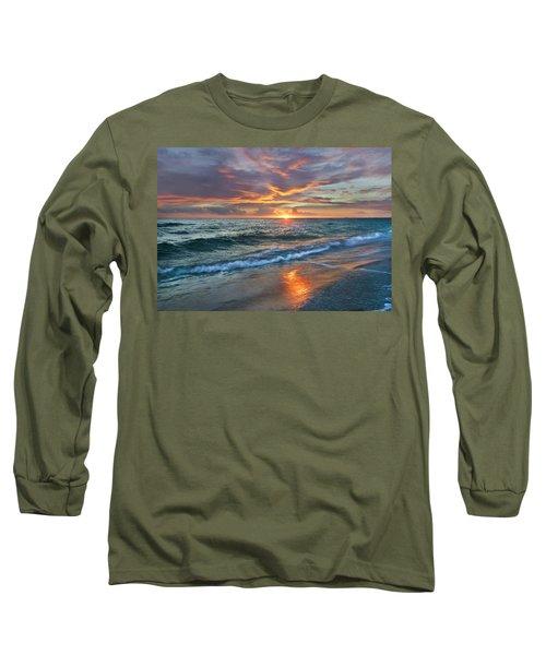 Sunset Gulf Islands National Seashore Long Sleeve T-Shirt