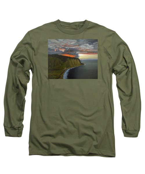 Sunset In Paradise Long Sleeve T-Shirt by Thu Nguyen
