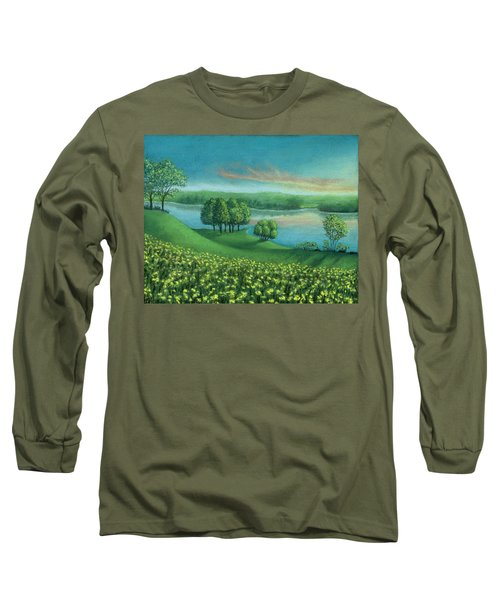 Sunset Lake A Long Sleeve T-Shirt