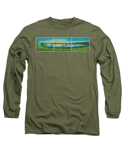 Sunset Lake Triptych Long Sleeve T-Shirt