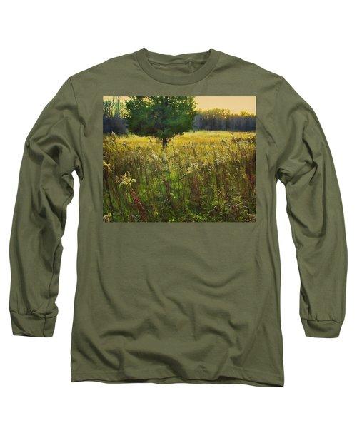 Long Sleeve T-Shirt featuring the photograph Sunset Meadow by John Hansen