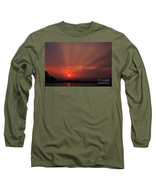 Sunset Over Hope Island 2 Long Sleeve T-Shirt by Blair Stuart