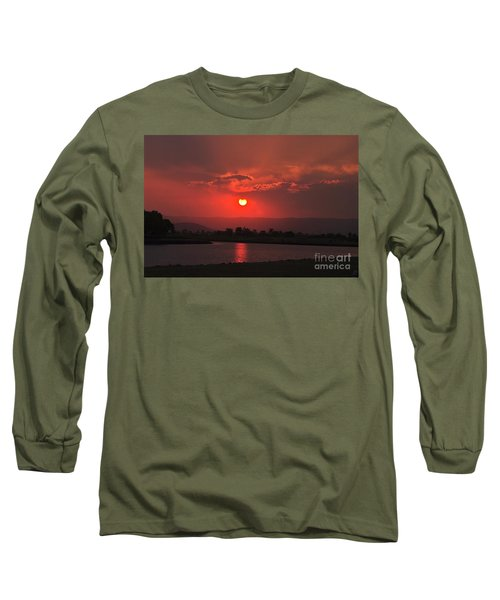Sunset Over Hope Island Long Sleeve T-Shirt
