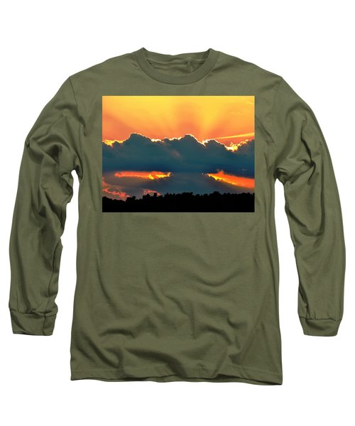 Sunset Over Southern Ohio Long Sleeve T-Shirt