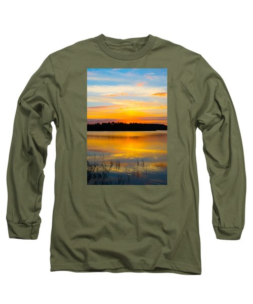 Sunset Over The Lake Long Sleeve T-Shirt by Parker Cunningham