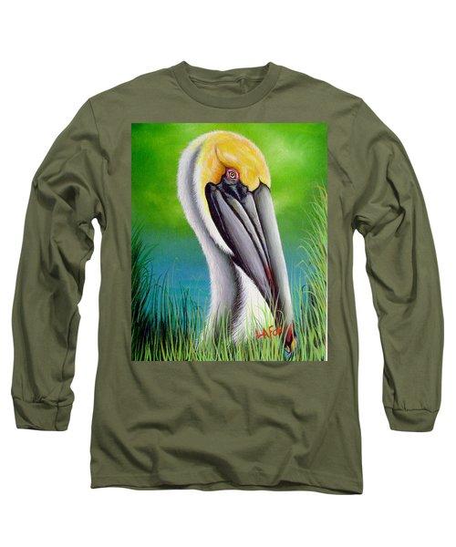 Sunset Pelican Long Sleeve T-Shirt
