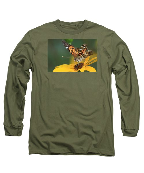Susan Painted Lady Long Sleeve T-Shirt by Reid Callaway