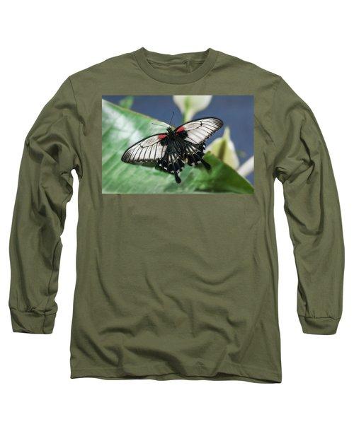 Long Sleeve T-Shirt featuring the digital art Swallowtail Butterfly by Mae Wertz