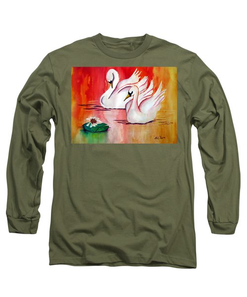 Swans In Love Long Sleeve T-Shirt