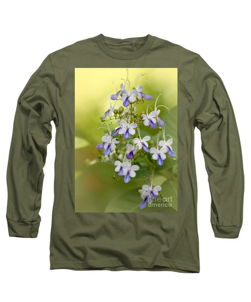Sweet Butterfly Flowers Long Sleeve T-Shirt