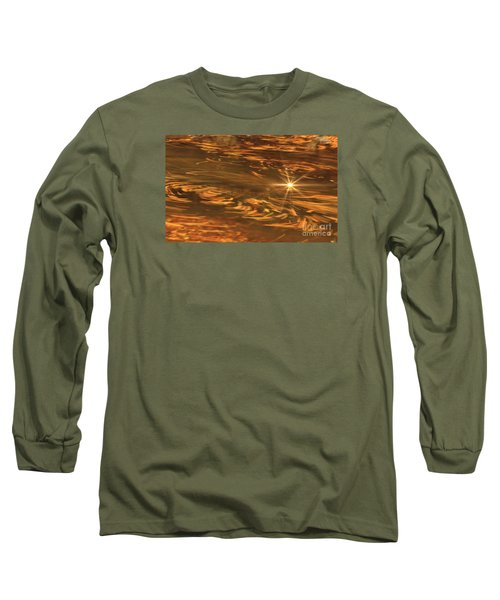 Long Sleeve T-Shirt featuring the photograph Swirling Autumn Leaves by Geraldine DeBoer