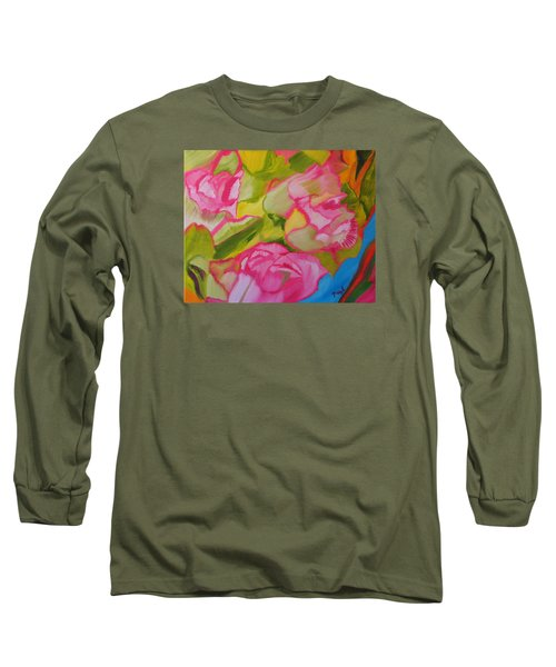 Symphony Of Roses Long Sleeve T-Shirt by Meryl Goudey